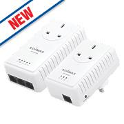 Edimax AV500 Pass-Through Powerline Starter Kit 500Mbps