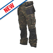 "Lee Cooper LCPNT210 Cargo Trousers Moss Camouflage 40"" W 31"" L"