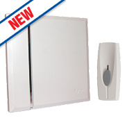 Byron Wireless 60m Wall-Mounted Slim Profile Door Chime Kit White