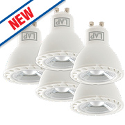 LAP GU10 LED Lamps 346Lm 5W Pack of 5