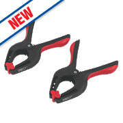 """Forge Steel Spring Clamps 9"""" Pack of 2"""