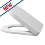 Supreme Round Soft-Close Toilet Seat Urea Formaldehyde White