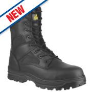 Amblers FS009C Hi-Leg Safety Boots Black Size 10