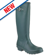 Cotswold Sandringham Buckle-Up Non-Safety Wellington Boots Green Size 6