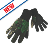 Cat 15401 Camo Jersey Micro Dot Palm Gloves Camoflage Large