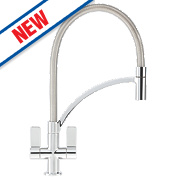 Franke Wave Pull-Out Mono Mixer Kitchen Tap Chrome