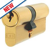 Eurospec 5-Pin Keyed Alike Double Euro Cylinder Lock 35-35 (70mm) Polished Brass