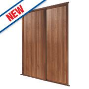 Spacepro 2 Door Panel Sliding Wardrobe Doors Walnut 1195 x 2260mm