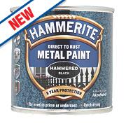 Hammerite Hammered Metal Paint Black 250ml