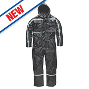 "Dickies Dartmouth Waterproof Coverall Black X Large 48-50"" Chest 30"" L"