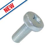 Easyfix Bright Zinc-Plated Pan Head Machine Screws M5 x 12mm 25 Pack