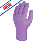 Skytec Iris Nitrile Powder-Free Disposable Gloves Purple Medium Pk100