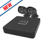 QVIS 005 4-Channel CCTV Digital Video Recorder with 2 Cameras
