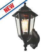 Zinc Black Up / Down Lantern Wall Light