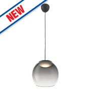Philips Vienne LED Glass Pendant Ceiling Light Grey 5.5W
