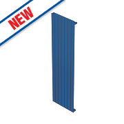 Moretti Modena Single Panel Vertical Designer Radiator Blue 1800 x 433mm