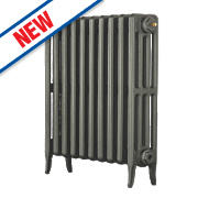 Arroll Neo-Classic 4-Column Cast Iron Radiator Cast Grey 660 x 634mm