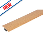 Vitrex Variable Height Wood/Laminate Floor Threshold Light Oak 50 x 900mm