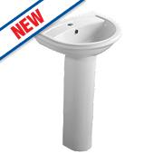 Ideal Standard Della Full Pedestal Basin 2 Tap Holes 540mm