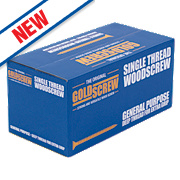 Goldscrew Woodscrews Double-Self-CSK 4 x 40mm Pk1000
