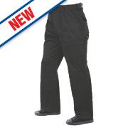 "Lee Cooper Classic Kneepad Trousers Black 32"" W 31"" L"
