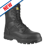 Amblers FS009C Hi-Leg Safety Boots Black Size 7
