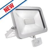Brackenheath ispot Driverless LED Floodlight w/ Microwave Sensor 50W White