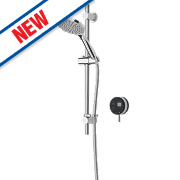 Bristan Artisan Evo HP Rear Fed Thermostatic Mixer Shower with Digital Control Black