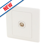 Schneider Electric Rocca 1-Gang Coaxial Socket White