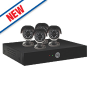 Yale Y804A-HD 8-Channel CCTV Digital Video Recorder Kit & 4 Cameras