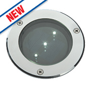 Solar LED Ground Light Chrome Effect 0.25W