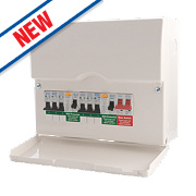 BG 6-Way High Integrity Dual RCD Metal Consumer Unit & 6 MCB