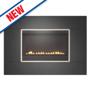 Focal Point Serif Black Rotary Control Gas Wall-Hung Flueless Fire