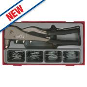 Teng Tools Hand Riveter Set 81 Pieces