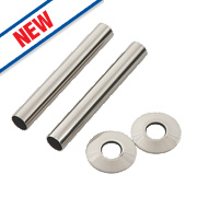 Arroll Pipe Shroud Kit Brushed Nickel 130 x 18mm