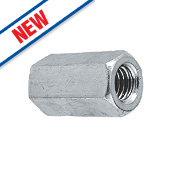 A2 Stainless Steel Threaded Rod Connecting Nut M6 Pack of 10