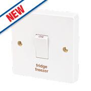 Crabtree 20A 1G Fridge Freezer Switch White Pack of 10