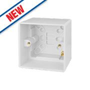 Schneider Electric 1-Gang Surface Pattress Box White 44mm