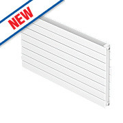 Moretti Modena Double Panel Horizontal Designer Radiator White 578x600mm