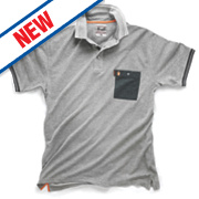 "Scruffs Worker Polo Shirt Grey Medium 42-44"" Chest"