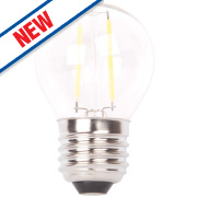 LAP Globe LED Filament Lamp Clear ES 4W