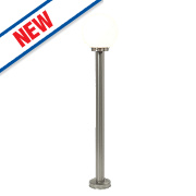 Saxby Pallo 28W Brushed Stainless Steel Bollard Light
