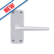 Smith & Locke 2000 Series Latch Door Handle Set Pair Satin Aluminium