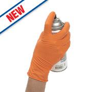 Eppco Tiger Grip Nitrile Disposable Gloves Orange Large Pk100