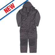 """Hyena K2 Waterproof Coverall Black X Large 52"""" Chest"""