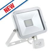 Brackenheath ispot Driverless LED Floodlight w/ Microwave Sensor 20W White