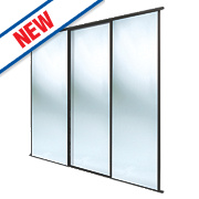 Spacepro 3 Door Framed Sliding Mirror Wardrobe Doors 2236 x 2260mm