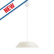Philips Fado LED Glass Pendant Ceiling Light White 5.5W