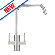Franke Maris Dual Lever Monobloc Mixer Kitchen Tap Silk Steel