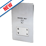 Crabtree Dual Voltage Shaver Socket 115/230V Brushed Stainless Steel